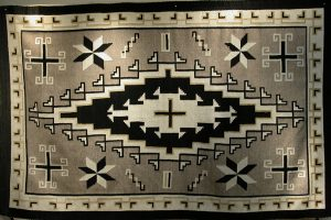 Two Grey Hills Navajo Blanket